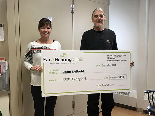 John Liebold 2017 Gift of Hearing Winner
